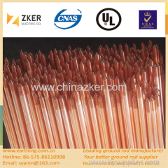 copper bonded low carbon steel earth rod