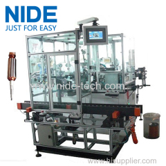 Automatic Double Flyer Rotor Windier armature Coil Winding machine for Hook Type Commutator