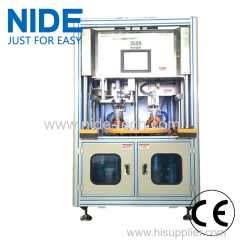 Automatic stator coil winding and coil inserting machine