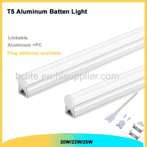 20w 1.2m T5 D shape Aluminum linkable integrated batten LED Light manufacture