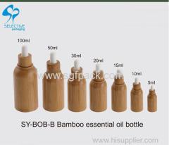 wooden package 15ml/20ml/30ml/50ml wood bamboo dropper glass essentil oil bottle