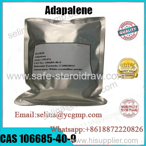 99% Purity Pharmaceutical Raw Powder Adapalene For Anti-Acne