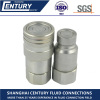 Carbon Steel Flat Face Hydraulic Quick Coupling NPT 1/2'' Quick Coupler Set