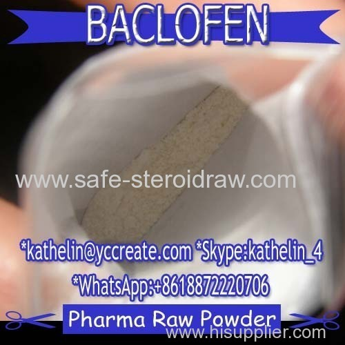 Antispasmodic Agent Powder Baclofen For Treat Muscle Symptom CAS:1134-47-0