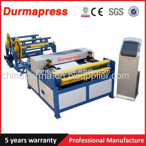 Air tube forming machine rectangular duct making machine