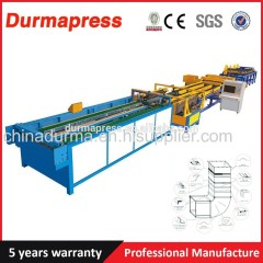 automatic decorative ss air duct pipe making machine
