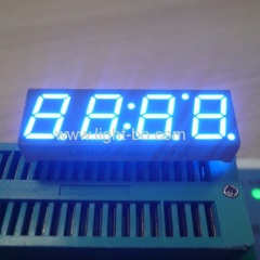 STB display; 10mm blue led display; 4 digit blue led display;LED display;7 segment;blue display;clock display