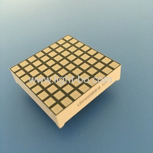 Ultra red 3mm 8 * 8 square dot matrix led display row anode for display screen / moving signs