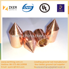 copper bonded ground rod driling head/ driving head