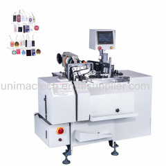 Full automatic wine tag stringer machine