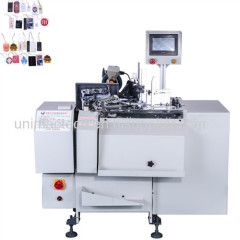automatic hang card stringging knotting machine