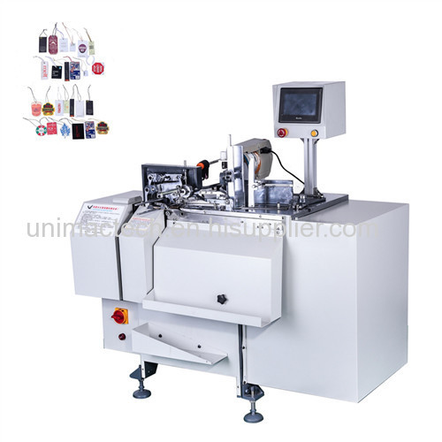 Full automatic clothing tags threading knotting machine