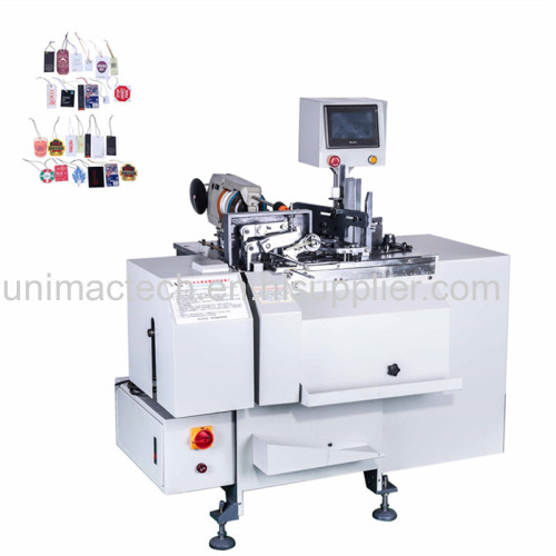 Full automatic toy tag elastic string knot tying machine/plastic tag knotting machine
