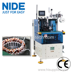 Induction stator coil end tie machine