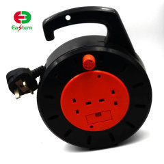 UK Cable Reel UK extension cord cable reels 2-outlet 13A 250V BS plug VDE cable H05VV-F 3G1.5mm2 25m/50m