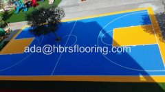 Hot Sale Plastic Triangle Suspension Assembled Basketball Flooring