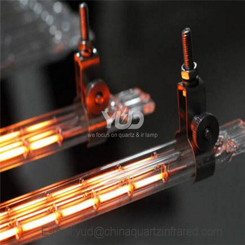 Quick heating speed Twin Tube Infrared Emitter with Gold Reflector