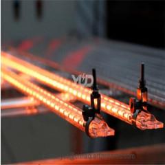 золотой 8 двухтрубный кварцевый инфракрасный излучатель для пластиковой сварки 6000w