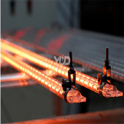 Medium wave twin tube gold reflector infrared heating emitter for Heidelberg printing machine