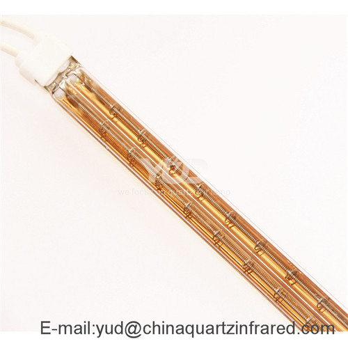 double gold quartz infrared tube heating elements costome made size