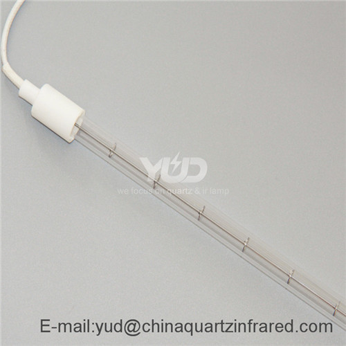 Clear shortwave infrared paint curing lamp