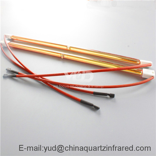 fast medium wave infrared heating lamp for hardline solar screen printer