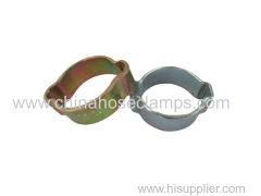 Galvanized Steel Alloy Heavy Duty Double Ear Hose Clamp