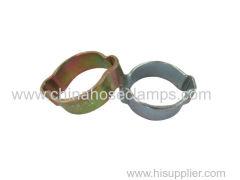 Galvanized Steel Alloy Heavy Duty Double Ear Hose Clamp