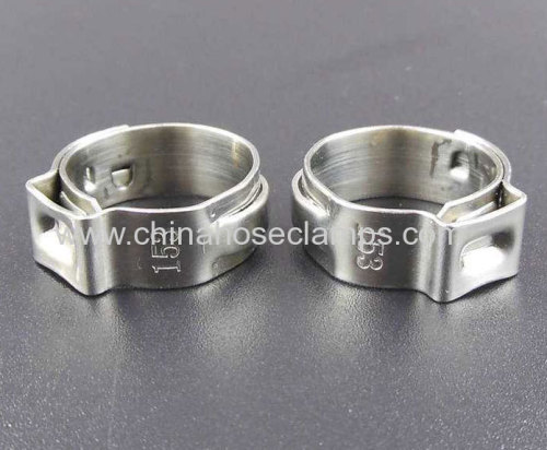 single ear stepless hose clamp in cars and trucks