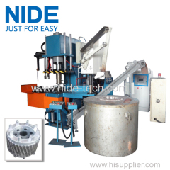 Automatic aluminum rotor die casting machine for electric motor armature