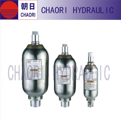 Stainless steel hydraulic accumulator