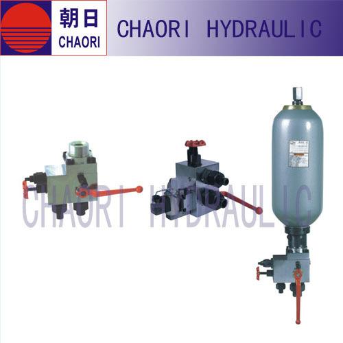 contol valve set for accumulator