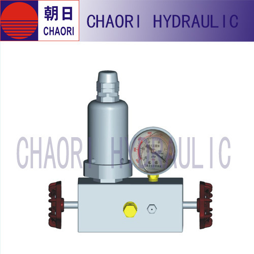 Forged gas safety valve for accumulator