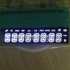 Ultra white custom design 8 digit 14 segment led display common cathode for SOUND