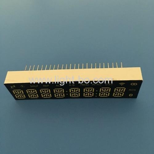 Ultra white custom design 8 digit 14 segment led display common cathode for SOUND