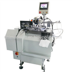 full automatic Ultra-thin hang tag knot tying machine/hangtag threader machine