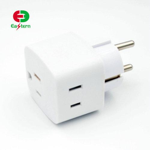 Power Plug Adapter USA US to EU Europe AC wall power plug phone travel Adapter