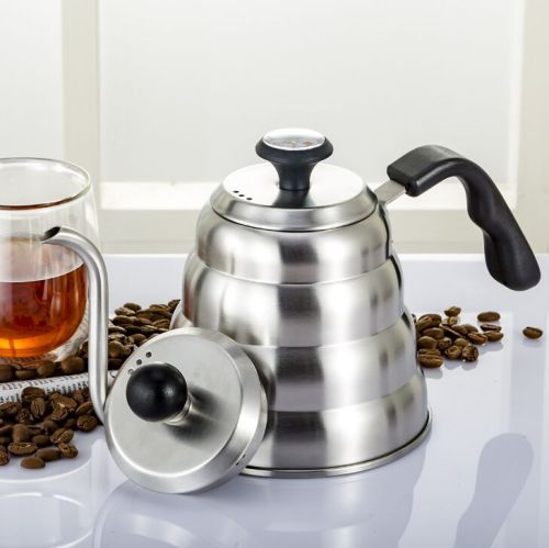Goose neck stainless steel coffee kettle