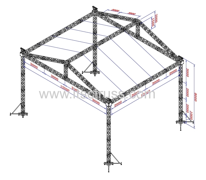 Truss rigging cost for aluminum gable roof products for Price on roof trusses