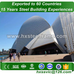 pre built structures and construction steel frame superiorly made blasted
