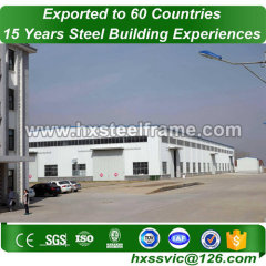 logistics warehouse made of steel structure welding outdoor export to Mongolia