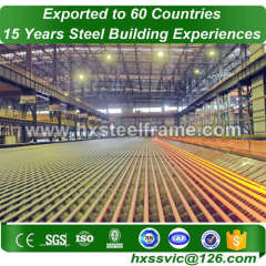 metal warehouse building kits made of steal frame with GB code for Asia client