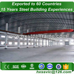 steel frame erection formed peb steel buildings ISO verified to Niamey market
