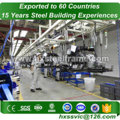 metal workshop buildings made of structural steel pipes of suitable price