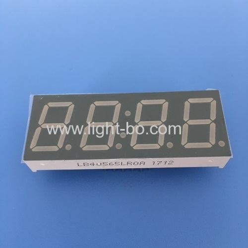 Super red 0.56 4 digit 7 segment led clock display common cathode for industrial control
