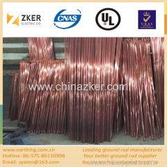 copper weld threaded earth rod