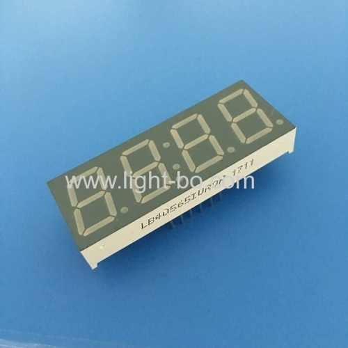 Ultra red 0.56  4 digit 7 segment led clock display common anode for Instrument Panel