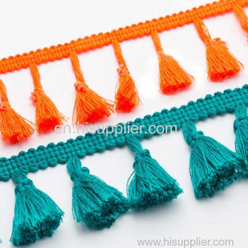 Crochet Braided Tassel; Fringe Tieback Tassel