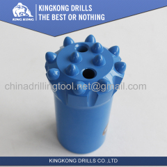 76mm T38 thread drill button bits with drop center face and ballistic buttons