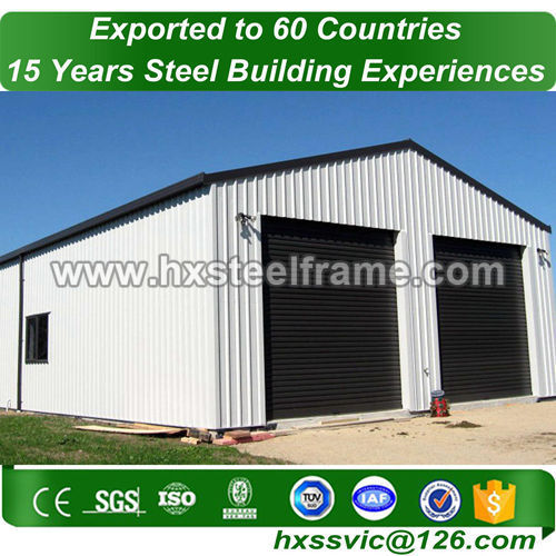 Prefab steel warehouse made of steel stucture ISO9001 at South America area
